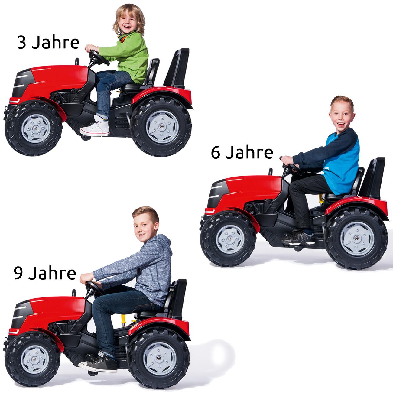 Rolly Toys rollyX-Trac Premium Trettraktor Alter 3-10 Jahre, Fl/üsterlaufreifen, mit Frontlader, Frontkotfl/ügel 651009